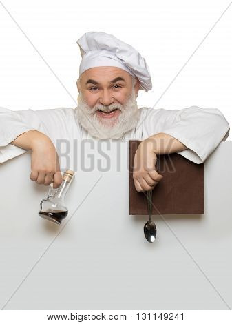 Bearded Cook With Paper