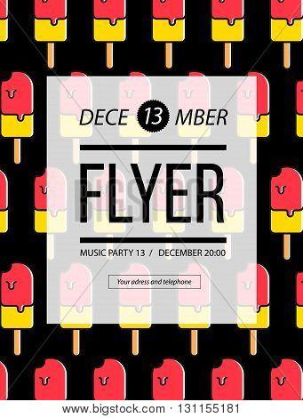 Party Flyer. Club Music Flyer. Dj Lineup Design. Vector Template