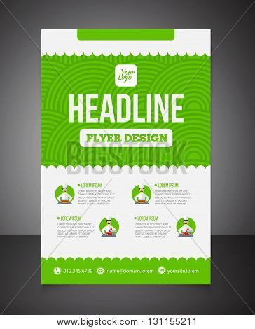 Business Brochure Or Offer Flyer Design Template. Brochure Design, Blank, Print Design, Flyer With T