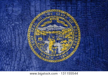 Flag Of Nebraska State, On A Luxurious, Fashionable Canvas