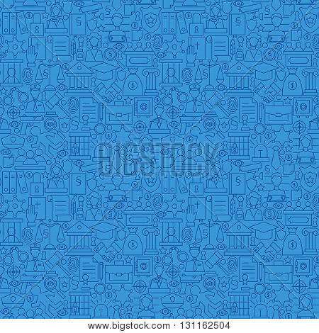 Blue Thin Line Law And Justice Seamless Pattern
