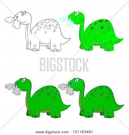 dino set icon 4 vector variations dinosaur