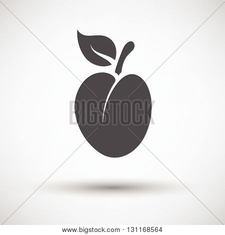 Plum Icon On Gray Background