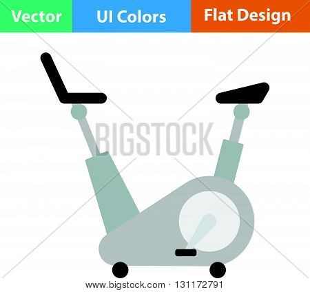 Flat Design Icon Of Exercise Bicycle
