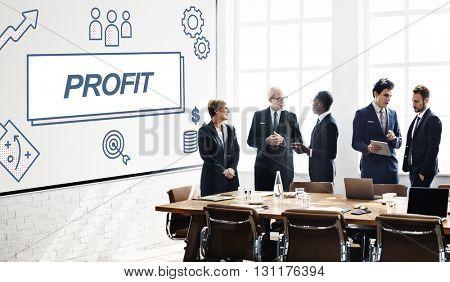 Profit Business Financial Gain Graphic Concept