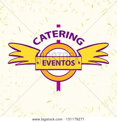 Vector Logo For Catering Restaurant Eventos. Catering Service