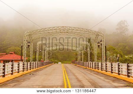 Bridge Across The Caldera River In Boquete, Panama