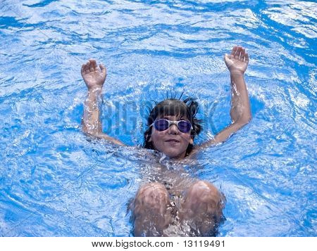 boy swiming