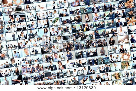 collage from business picture