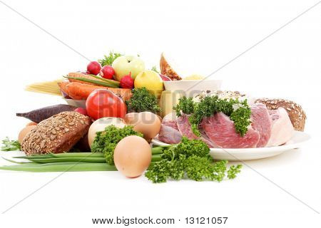 Fresh Vegetables and Fruits. Shot in a studio.