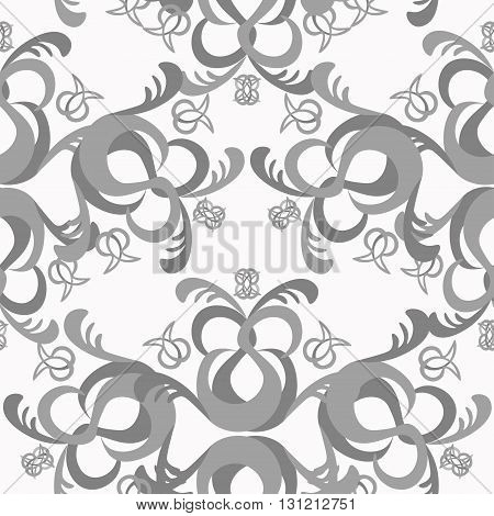 The Solemn Seamless Pattern Of Black And White. Vector Illustration