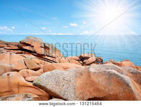Ploumanach, Pink Granite Coast in Brittany, France