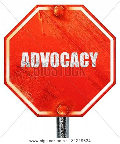 advocacy, 3D rendering, a red stop sign