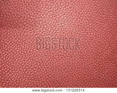 Leather Carmine color as background and texture