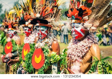 Women At Show In Papua New Guinea