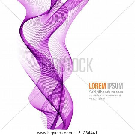 Abstract background, purple transparent waved lines for brochure, website, flyer design. purple smoke wave. purple wavy background