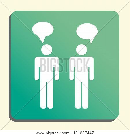 Discussion Icon In Vector Format. Premium Quality Discussion Symbol. Web Graphic Discussion Sign On