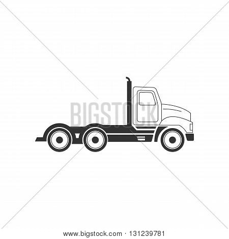 Flat truck line icon vector illustration isolated on white background.