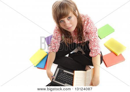 Portrait of a styled teen. Theme: teens, education, fashion