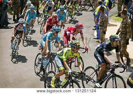 MONTEMAGGIORE Italy - may 20. 2016: NIBALI Vincenzo - ASTANA in group during Giro di Italia 2016 13st stage 170km
