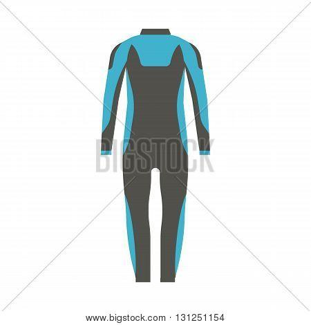 Man Wetsuit Vector Illustration