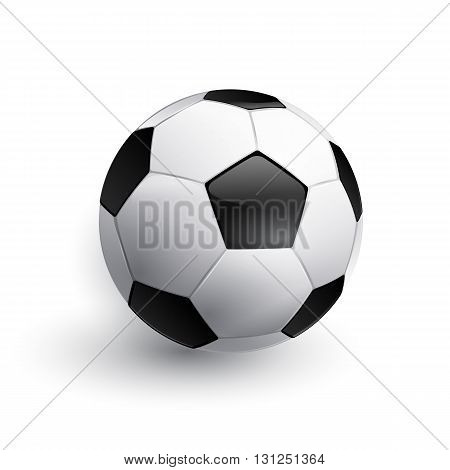 Soccer ball. Football ball. Realistic soccer ball isolated on white.