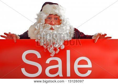 Xmas  background: Santa, gifts, kid.