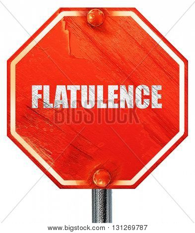 flatulence, 3D rendering, a red stop sign