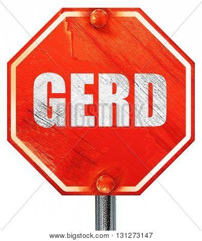 Gerd, 3D rendering, a red stop sign