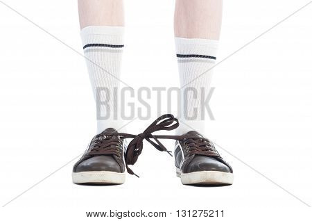 Long Socks And Shoe Laces Tied Together Prank