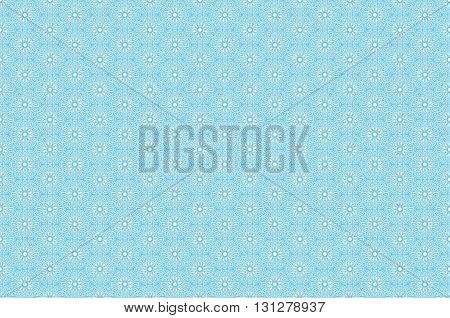 Vector Seamless Pattern With Outline Floral Ornament. Vintage Design Element In Middle Eastern Style