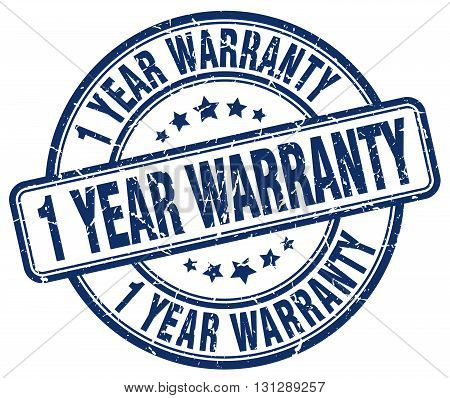 1 year warranty blue grunge round vintage rubber stamp.1 year warranty stamp.1 year warranty round stamp.1 year warranty grunge stamp.1 year warranty.1 year warranty vintage stamp. poster
