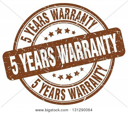 5 years warranty brown grunge round vintage rubber stamp.5 years warranty stamp.5 years warranty round stamp.5 years warranty grunge stamp.5 years warranty.5 years warranty vintage stamp. poster