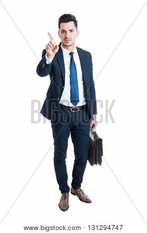 Broker Or Lawyer Saying No With Finger