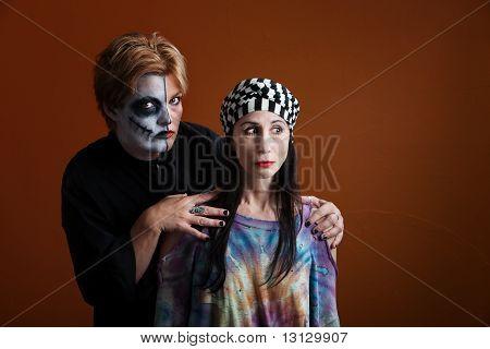 Women Dressed For Halloween