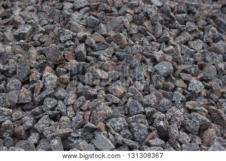 grey crushed stones (macadam) - materials for building
