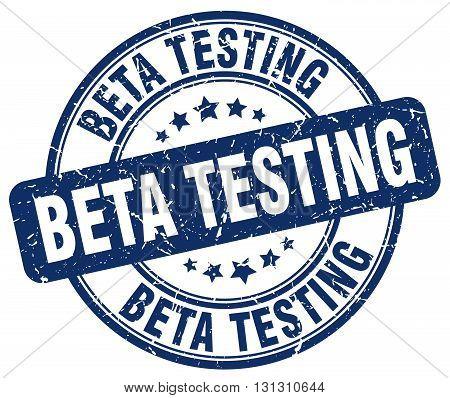 beta testing blue grunge round vintage rubber stamp.beta testing stamp.beta testing round stamp.beta testing grunge stamp.beta testing.beta testing vintage stamp.