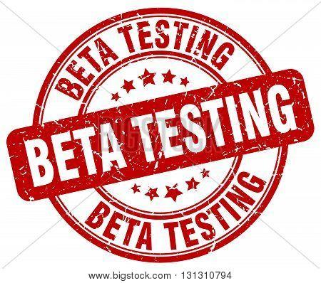 beta testing red grunge round vintage rubber stamp.beta testing stamp.beta testing round stamp.beta testing grunge stamp.beta testing.beta testing vintage stamp.