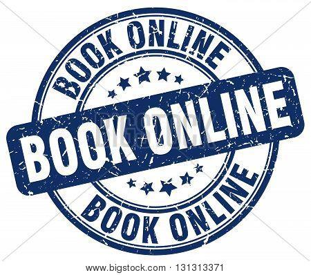 book online blue grunge round vintage rubber stamp.book online stamp.book online round stamp.book online grunge stamp.book online.book online vintage stamp.