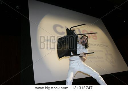 New York Ny: Oct 21, 2009: Musician Andrew W.k. Performing Onstage During The Keynote Address For Th