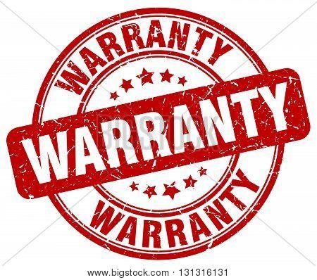 Warranty Red Grunge Round Vintage Rubber Stamp.warranty Stamp.warranty Round Stamp.warranty Grunge S