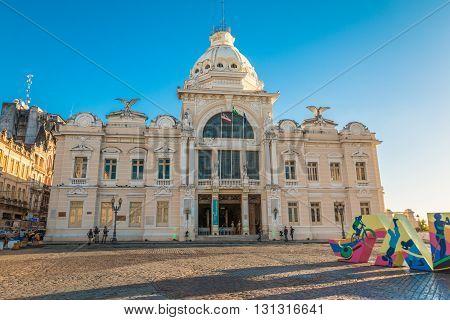 Rio Branco palace in Salvador de Bahia Brazil