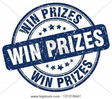 Win Prizes Blue Grunge Round Vintage Rubber Stamp.win Prizes Stamp.win Prizes Round Stamp.win Prizes