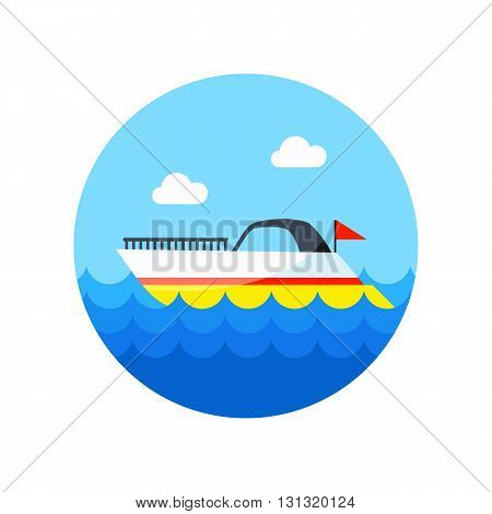 Ship Boat vector icon. Beach. Summer. Summertime. Vacation eps 10