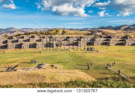 Sacsayhuaman Inca ruins near Cusco in Peru