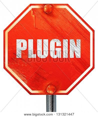 plugin, 3D rendering, a red stop sign