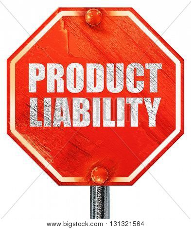 product liability, 3D rendering, a red stop sign