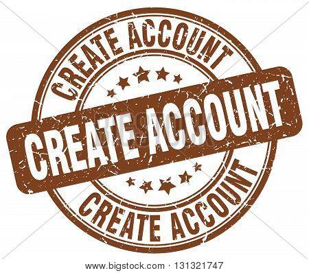 create account brown grunge round vintage rubber stamp.create account stamp.create account round stamp.create account grunge stamp.create account.create account vintage stamp.