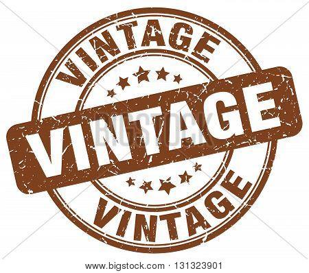 Vintage Brown Grunge Round Vintage Rubber Stamp.vintage Stamp.vintage Round Stamp.vintage Grunge Sta