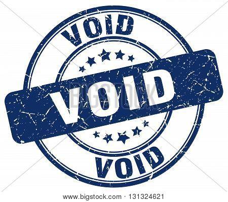 Void Blue Grunge Round Vintage Rubber Stamp.void Stamp.void Round Stamp.void Grunge Stamp.void.void